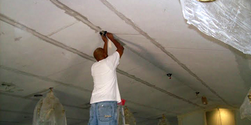 picture of our sheetrock repair service